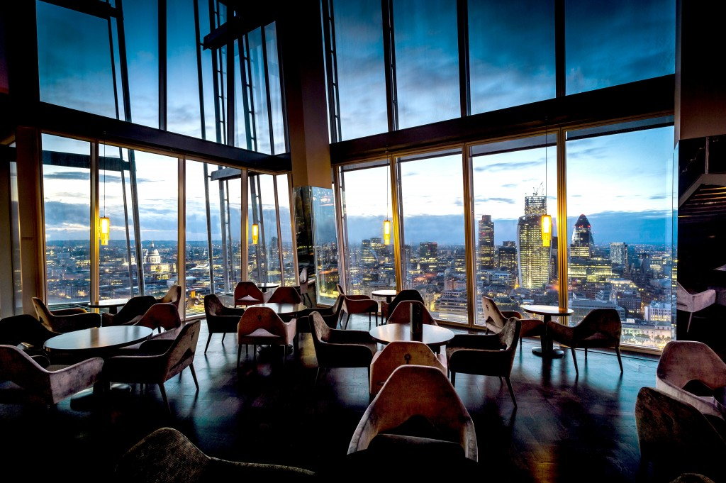 Enjoy spectacular views at aqua shard