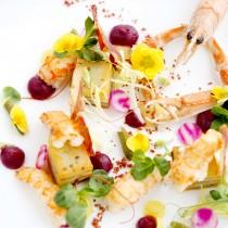 Dishes at Aqua Shard.Picture -  David Bebber