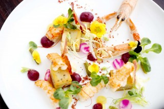 Dishes at Aqua Shard.