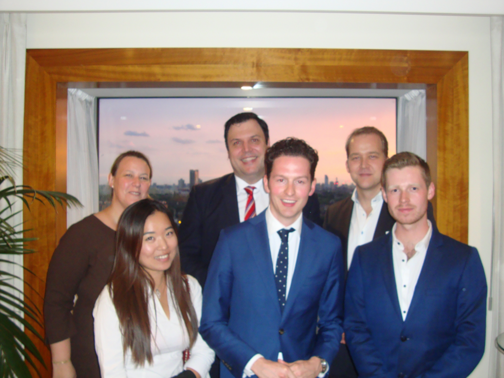 Myles (right) with fellow winners and mentors of the F&BMA Rothschild Rising Star