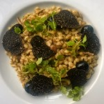 Pearl barley risotto of grouse with black truffle