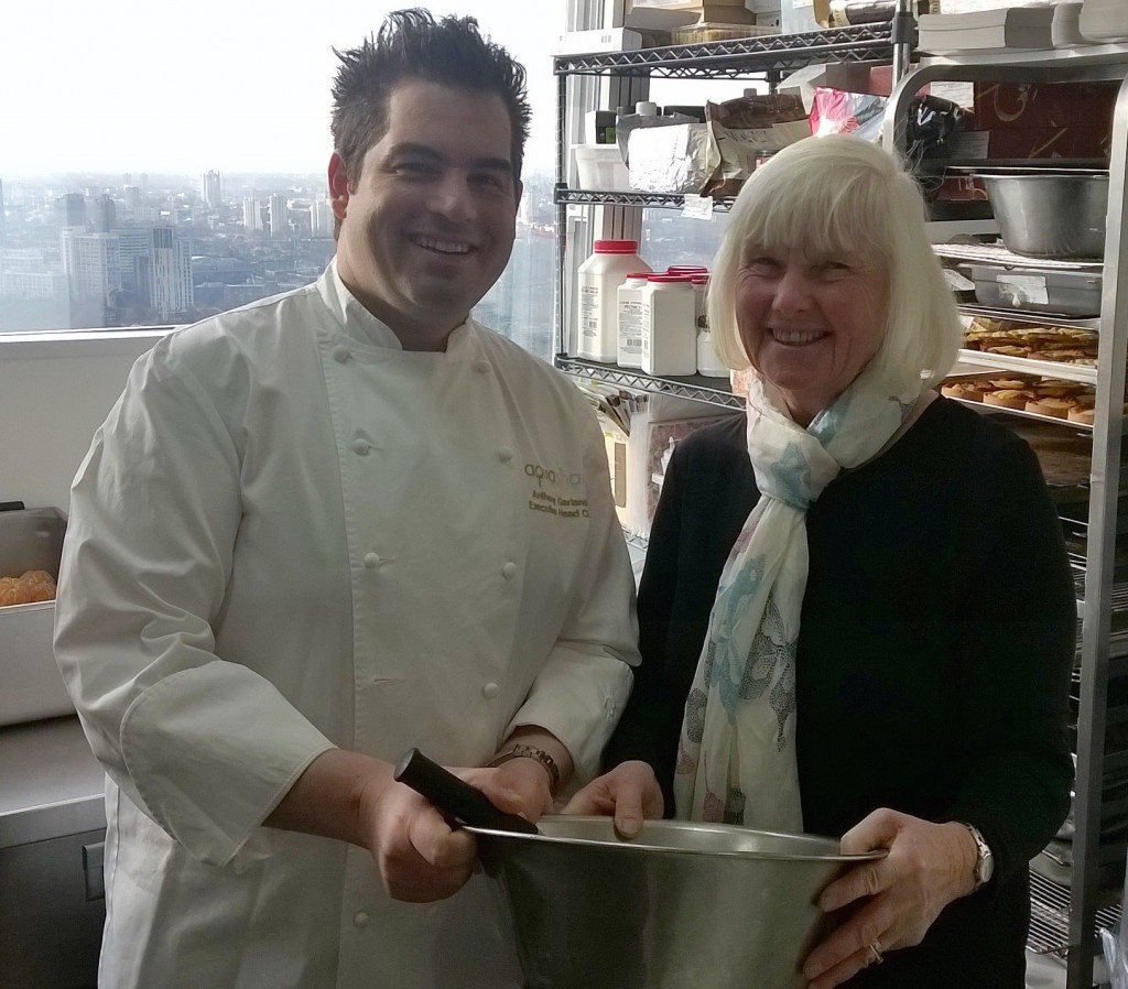 Anthony Garlando gets a lesson in Yorkshire pudding making from Jean Wiltshire
