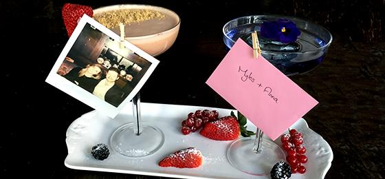 Valentine's Day sharing cocktail at aqua shard