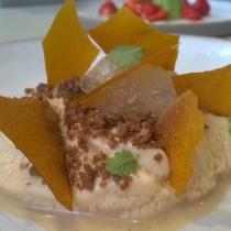 Maple cream, oatmeal crumb, carrot puree, iced lemon thyme