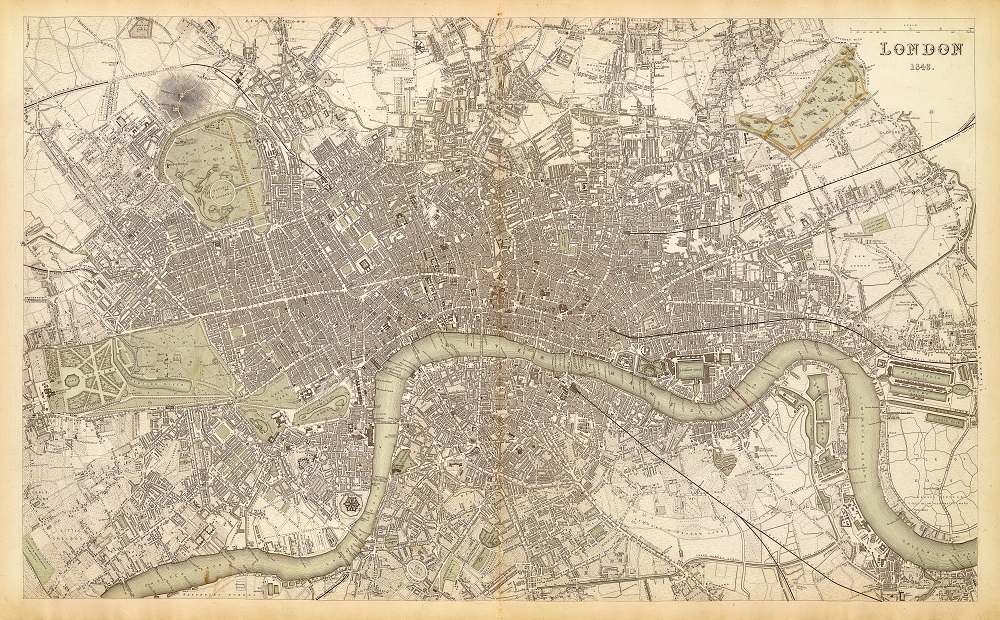 map of london 1843